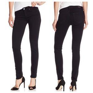 Paige Skyline Skinny Jeans in Black Shadow